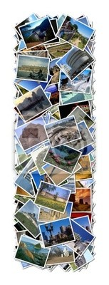 All over the world photo font i with 210 original pictures