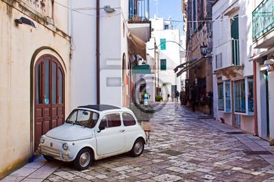 Canvas print alleyway of Otranto, Italy