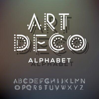 Canvas print Alphabet letters collection, art deco style