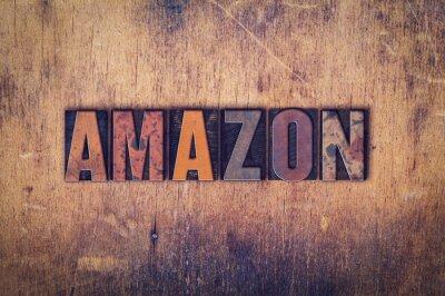 Canvas print Amazon Concept Wooden Letterpress Type