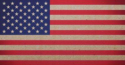 Canvas print American flag
