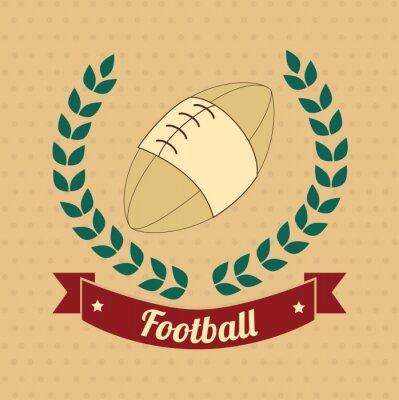 Canvas print american football