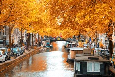 Canvas print Amsterdam.