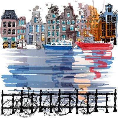 Canvas print Amsterdam