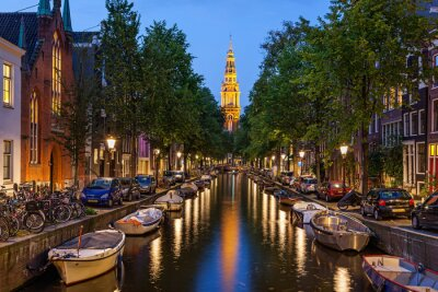 Canvas print Amsterdam canals