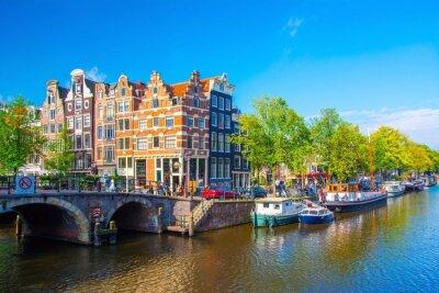 Canvas print Amsterdam, Pays-Bas