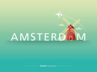 Canvas print Amsterdam typography