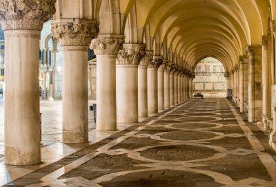 Canvas print Ancient Columns in Venice. Arches in Piazza San Marco, Venezia