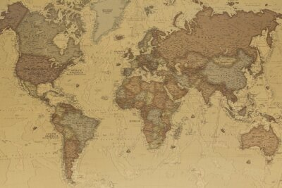Canvas print Ancient world map