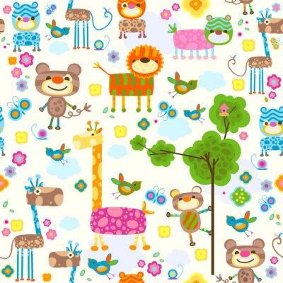 Canvas print animals background