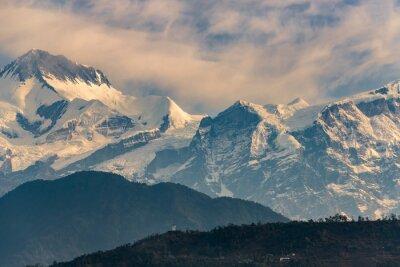 Canvas print Annapurna range at sunrise