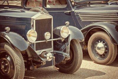 Canvas print Antique cars, vintage process
