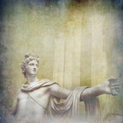 Canvas print Antique hellenistic sculptures on grunge background