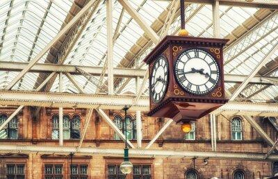 Canvas print Antique station clock