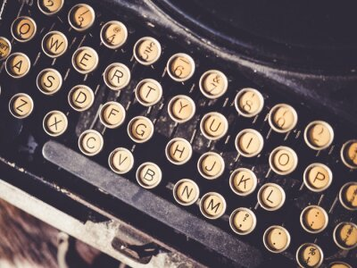 Canvas print Antique Typewriter Vintage object background