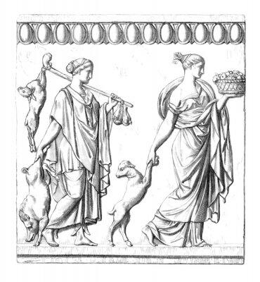 Canvas print Antiquity : Roman Women