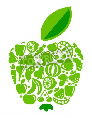 Apple from fruit and vegetables