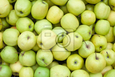 Apples background Green apple Raw fruit and vegetable backgrounds overhead perspective, part of a set collection of healthy organic fresh produce