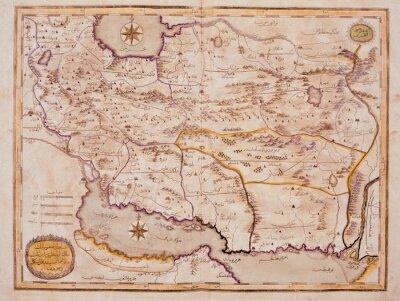 Canvas print Arabic old map