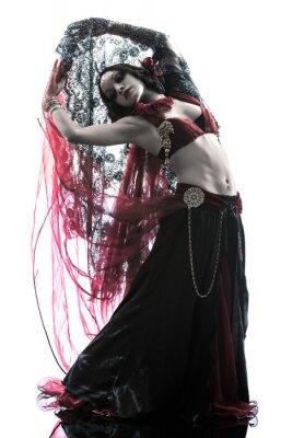 Canvas print arabic woman belly dancer dancing