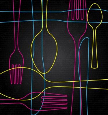 Canvas print art cutlery