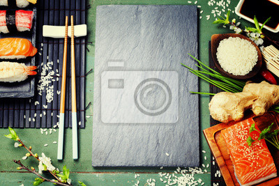 Canvas print Asian food background