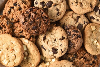 Canvas print Assorted Cookie Closeup