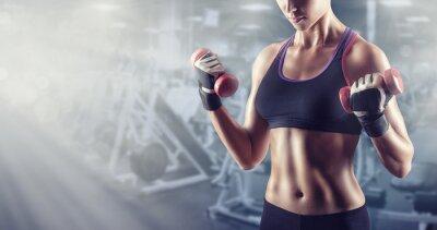 Canvas print Athletic girl