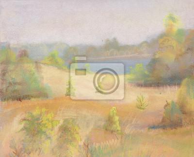 Canvas print August landscape