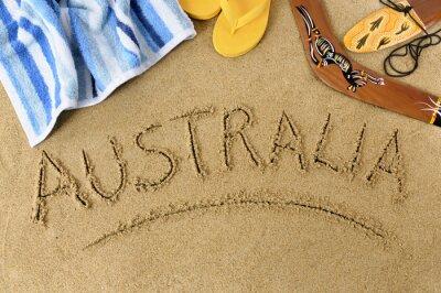 Canvas print Australia beach background