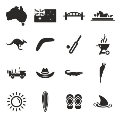 Canvas print Australia Icons