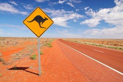 Canvas print Australian endless roads