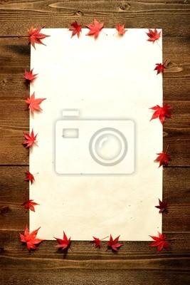 Autumn Japanese red maple leaves.frame
