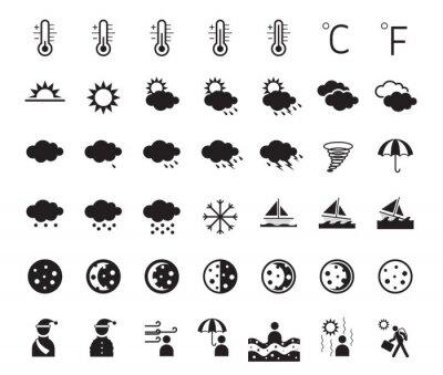 B&W icons set : Weather Symbols