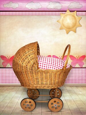Canvas print baby carriage