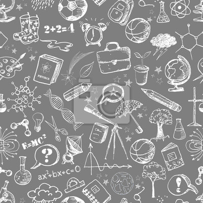 Back to school - sketch seamless background.