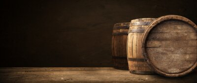 Canvas print background of barrel