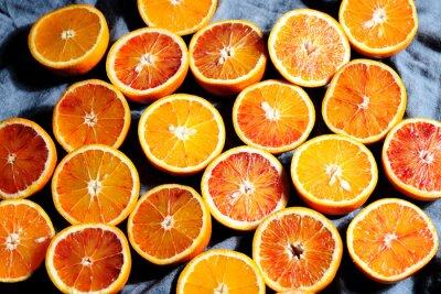 Canvas print background of oranges