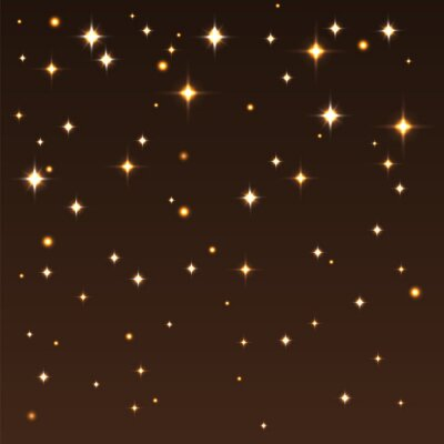 Canvas print Background with shiny stars in the dark sky