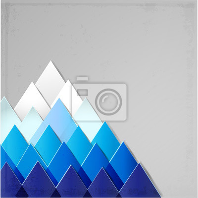 Canvas print Background with stylized image of a mountain