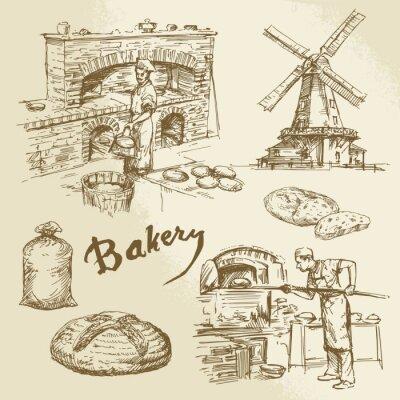 Canvas print baker, bakery, bread