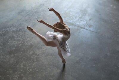 Canvas print Ballerina indoors