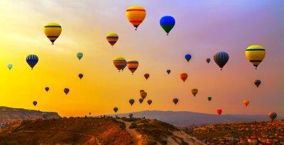 Canvas print balloons CappadociaTurkey.