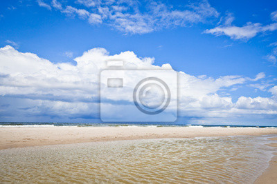 Baltic sea landscape with cloudy sky