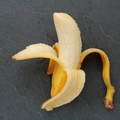 Canvas print Banane sur ardoise