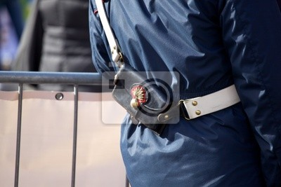 Bandolier of a policeman