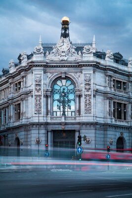 Canvas print Bank of Spain Old Building