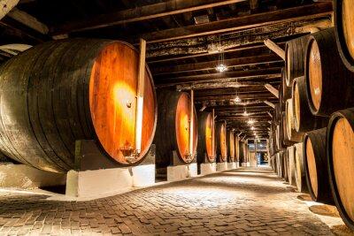 Canvas print Barrels in  Porto, Portugal