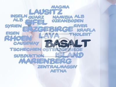 Canvas print Basalt