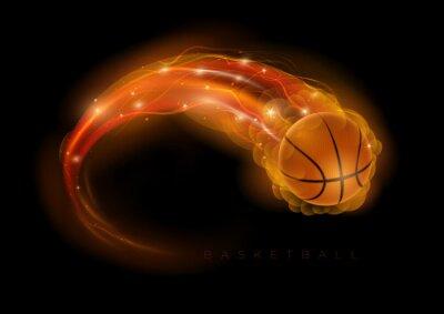 Canvas print Basketball comet